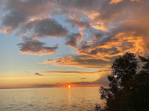 Site exceptionnel avec plage privée au Lac St-Jean