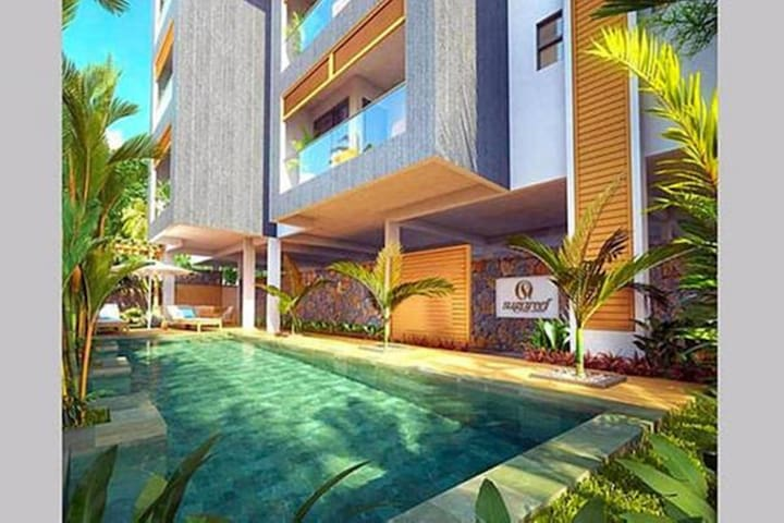 Ground Floor Beach Apartment with Private Garden+ Car Rental Option
