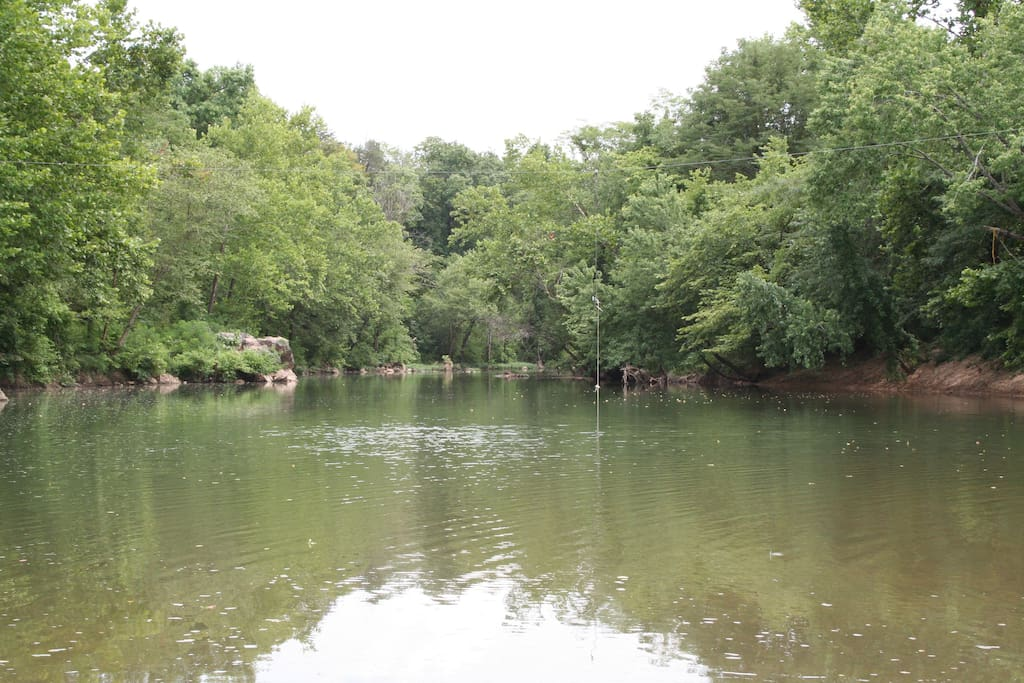 One of the best swimming holes in the area--just about three miles from the house.