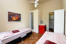 Room with bathroom