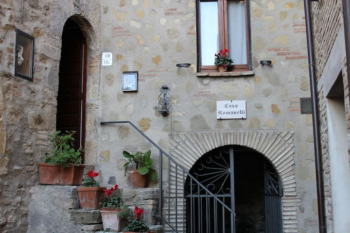 Casa Romanelli, in the medieval hamlet of Saragano - Saragano - Apartment