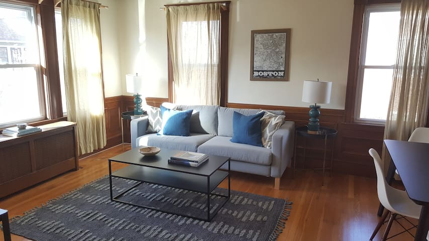Bright City Apt. in hip Jamaica Plain!  Sleeps 6