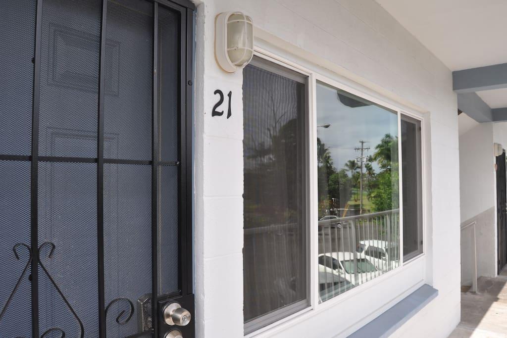Unit 21 Entrance