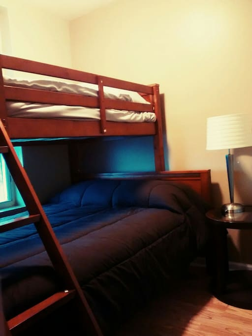 2nd bedroom. Full and twin size bunk bed.