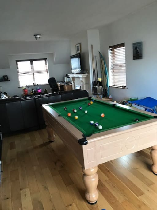 Pool room and second living room