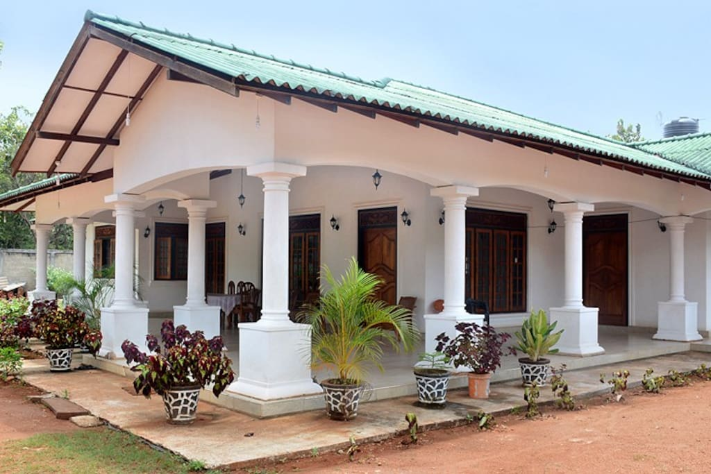 Front view from the compound's gate