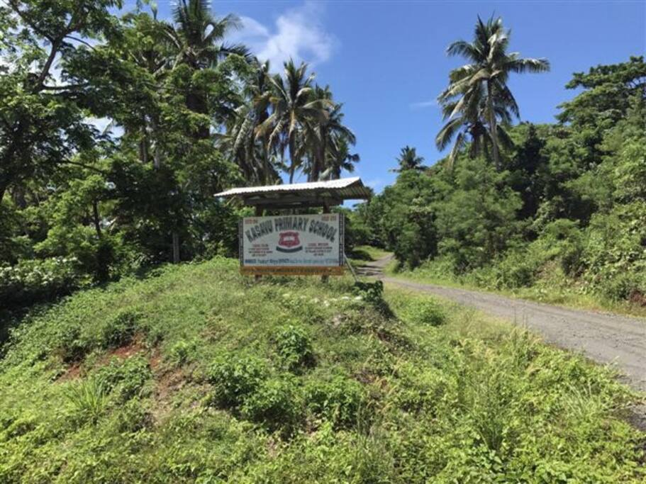 Kasavu Primary School Road on right hand side - entry to Vuniwi Homestead