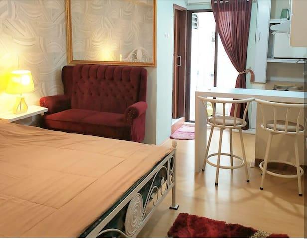 Classic style studio apartment