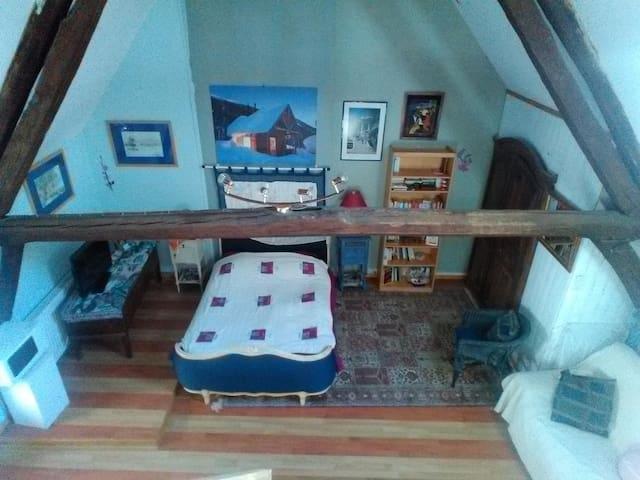 Grande maison ensoleillée/chambre bleue lumineuse - Sancerre - Hus