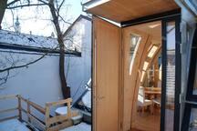 Sunny apartment near metro station.