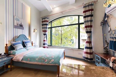毗邻西溪湿地灵隐LOFT精装修单身公寓紫庭雅舍地中海