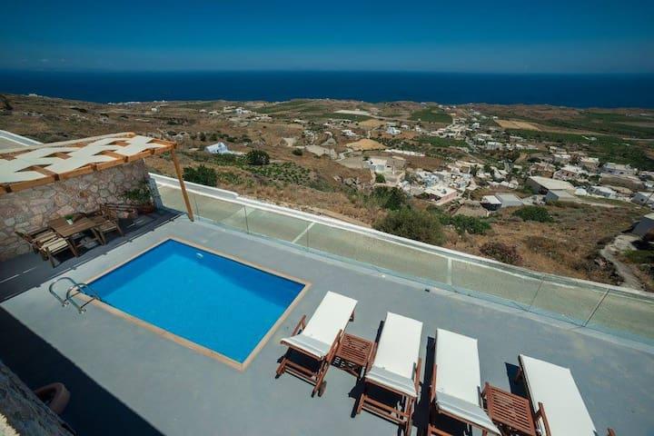 Luxurious Villa, Private Pool, Aegean Sea View
