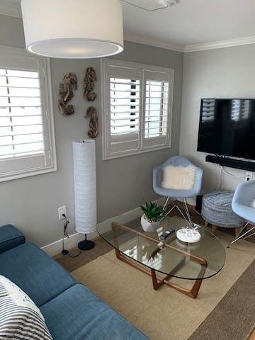 Living room with 2019 55 inch Samsung smart TV
