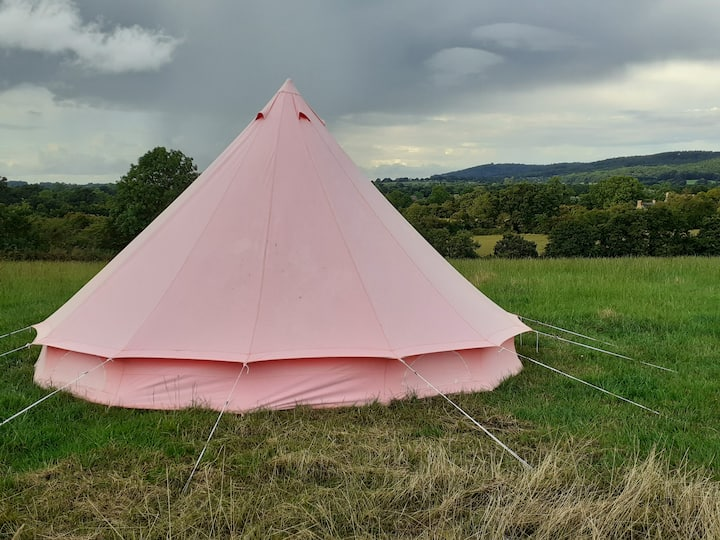 5m pink palace bell tent