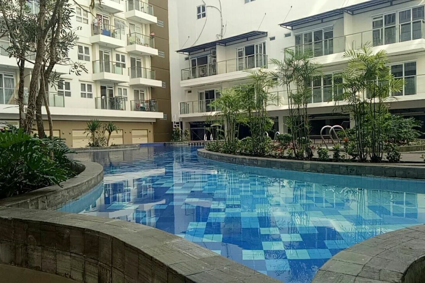 The Apartment pool, in the middle of the apartment area. Another one located below the room