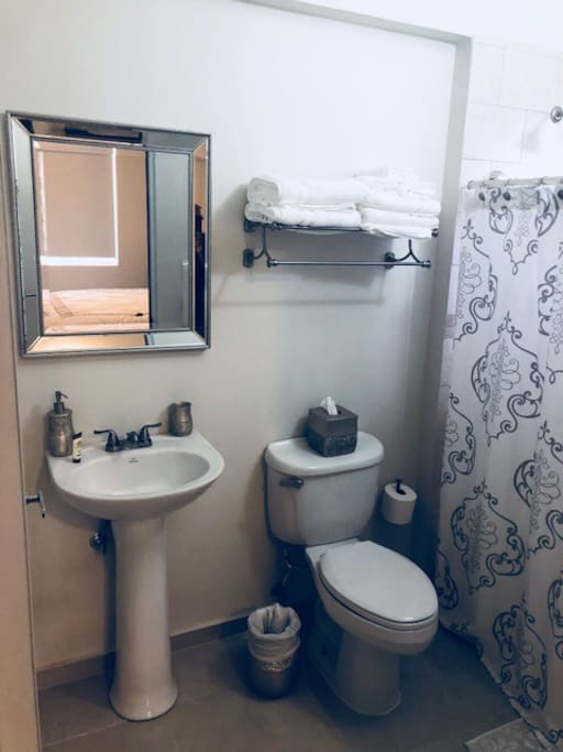 Private Bathroom with hot water