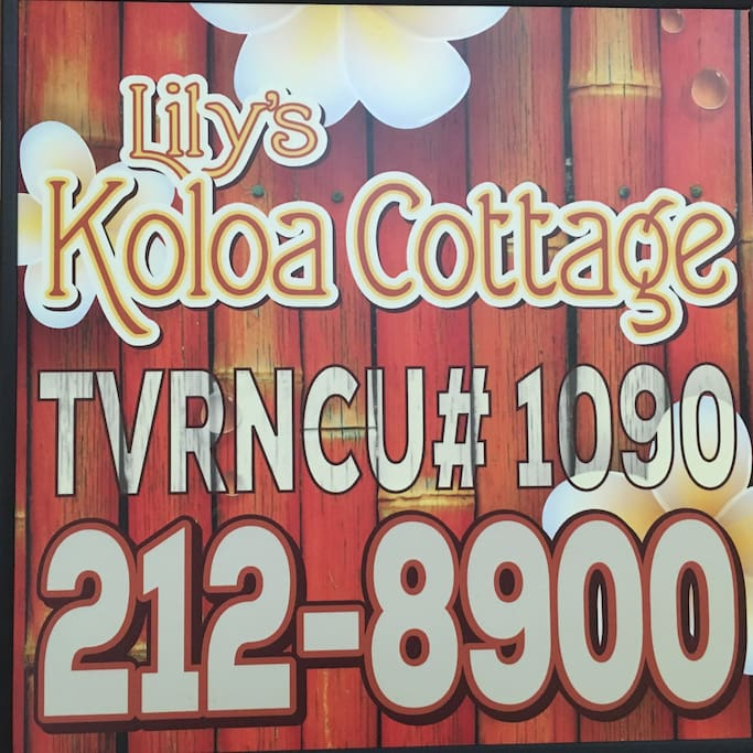 Our rental permit and 24/7 contact