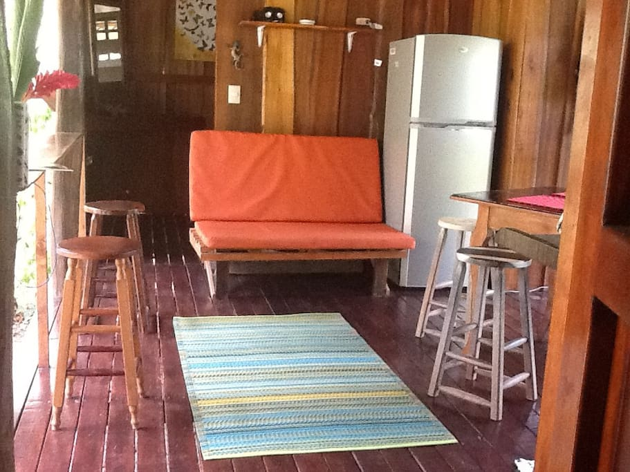 Seating in cabina kitchen area