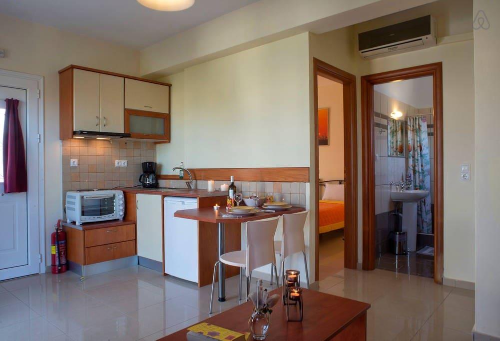 the interior the kitchen