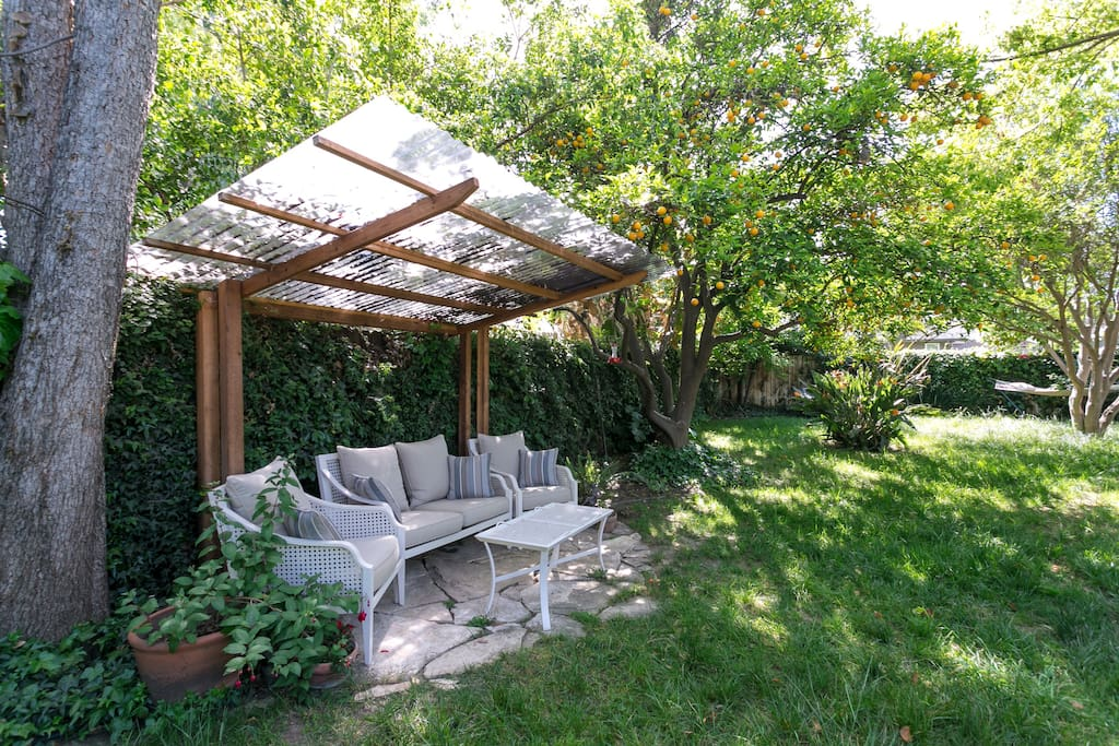 Great seating area in the garden.