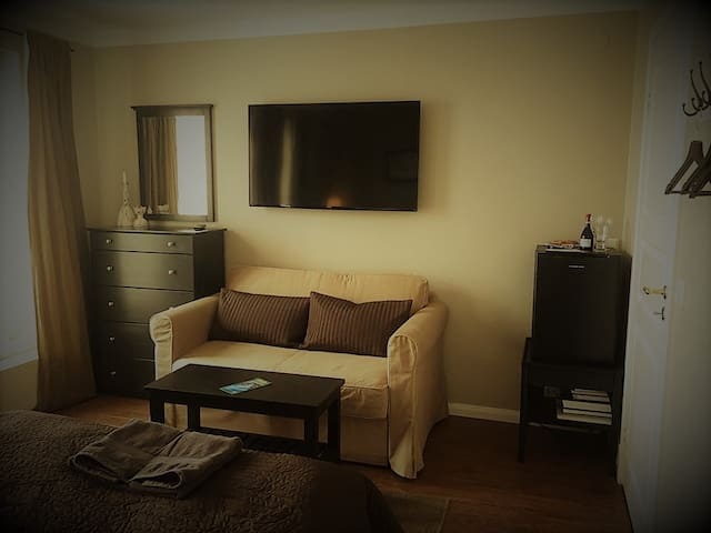 This room offers TV and minibar.