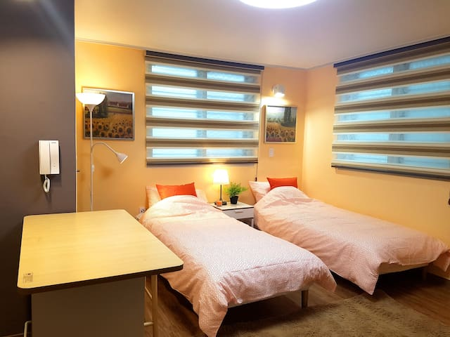 Ryu House village -Full option 2 single bed studio
