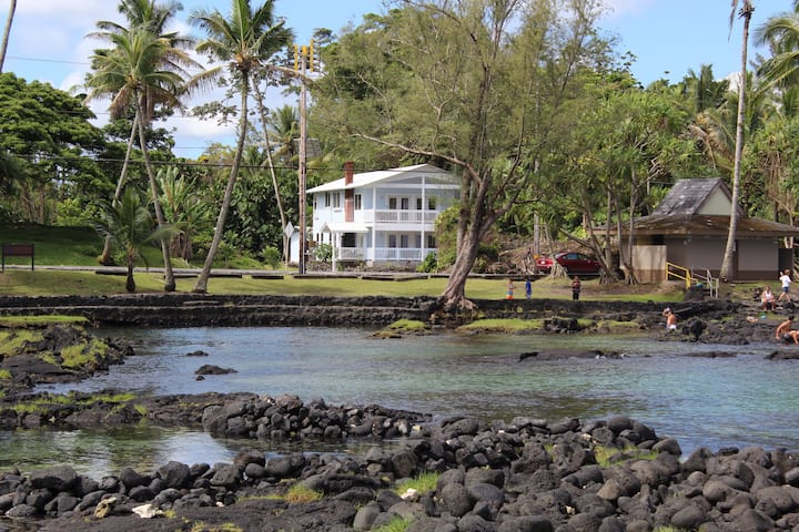 Newer Beach House in Hilo's Best Location. Turtles