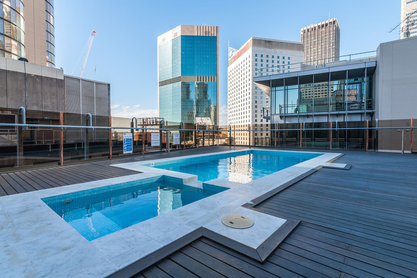 Your rooftop pool awaits!