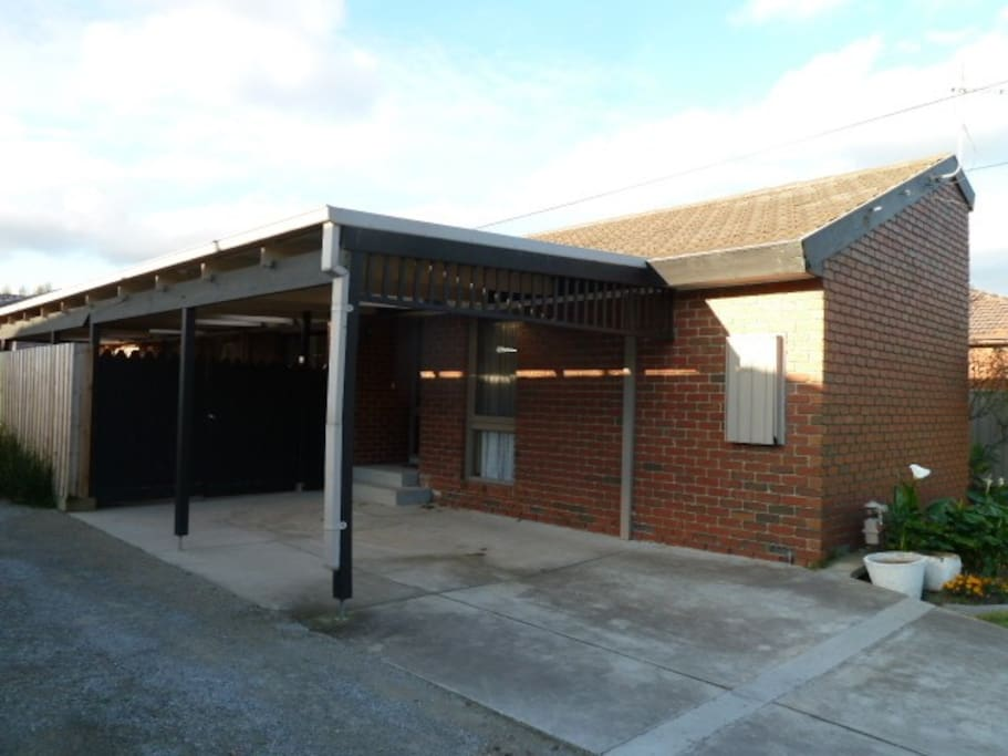 Carport is used but there is plenty of on street parking.