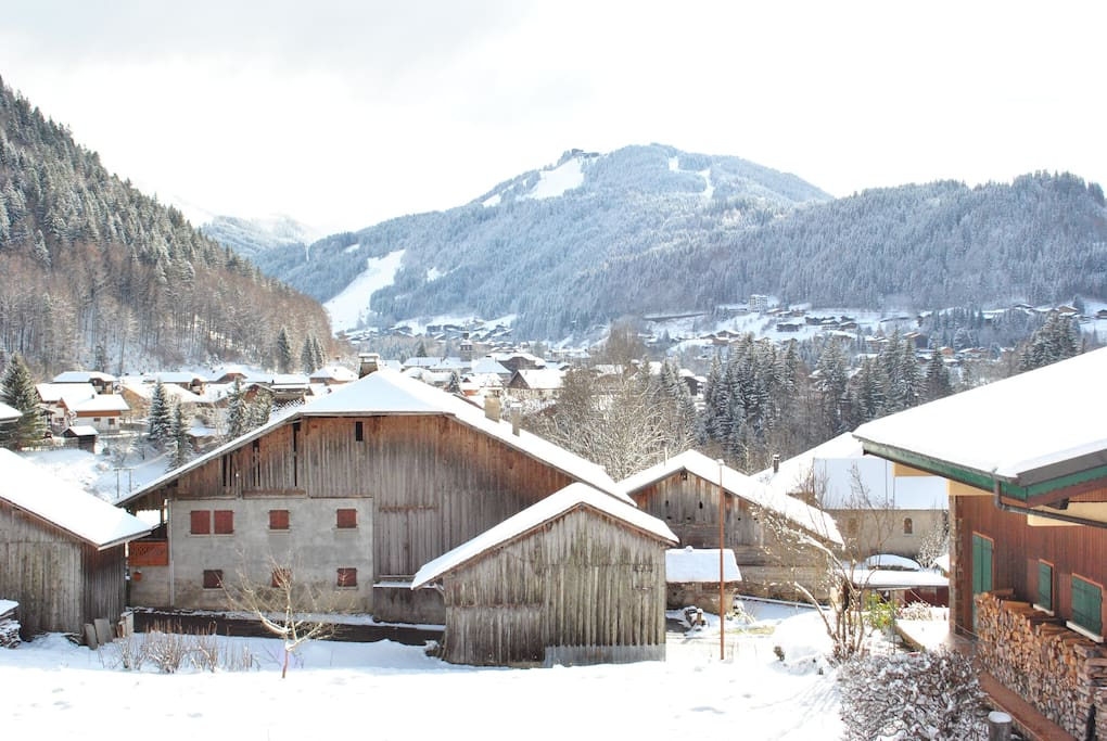 View of Morzine from the chalet