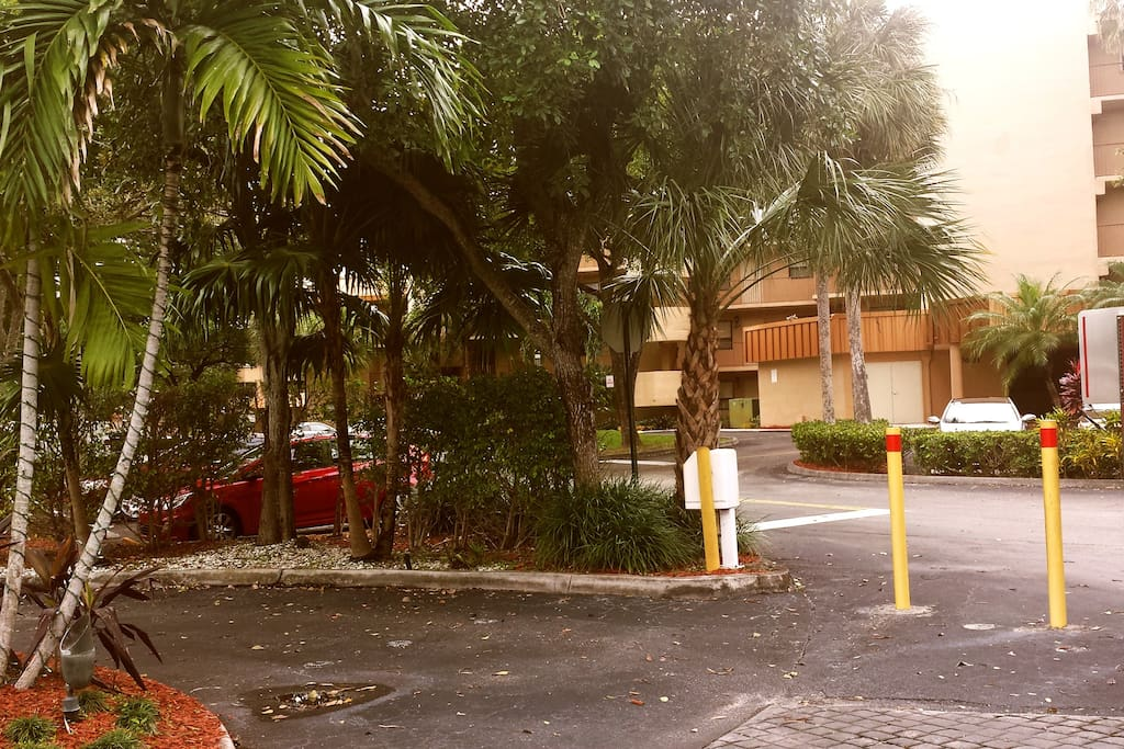 Gated entrance to the apartment complex