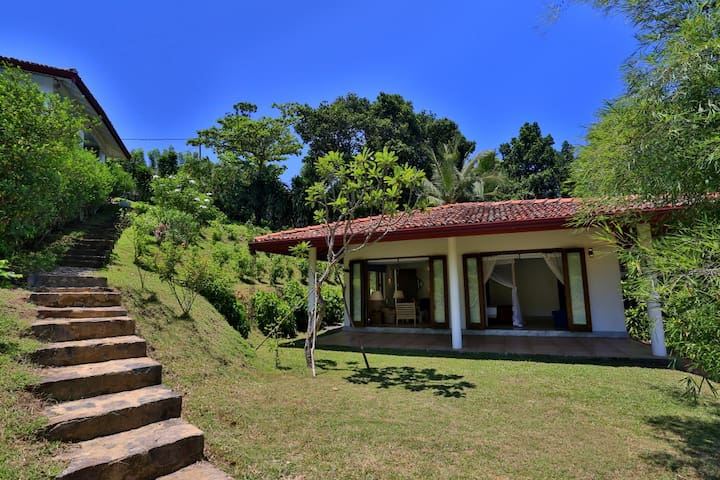The secluded lower villa, 20 steps down from the main villa (included in your booking)