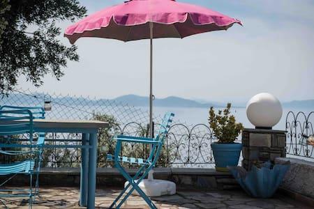 Panoramic sea & mountain view villa