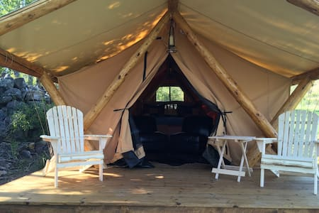 Heather's Hideaway Romantic Glamping Tent