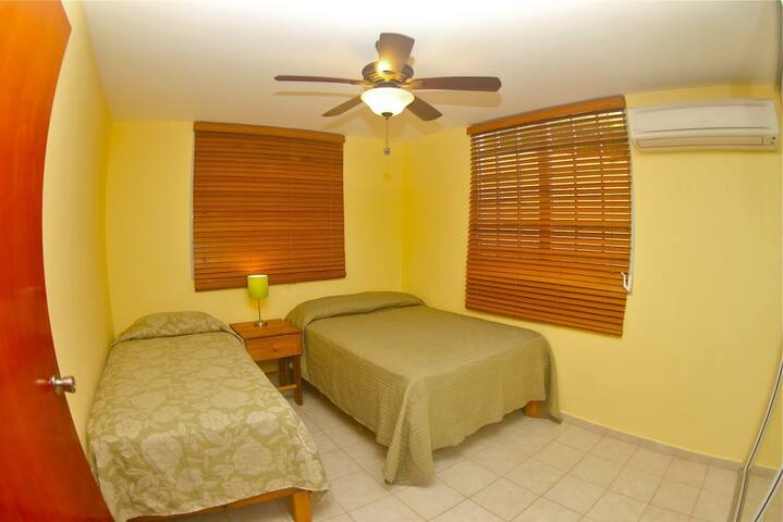 Full and Twin Bed with Air Conditioning