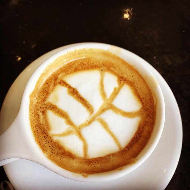 Latte foam art! What's your team logo?