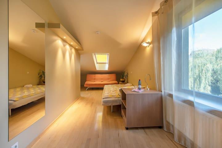 Family room at Villa Evergreen