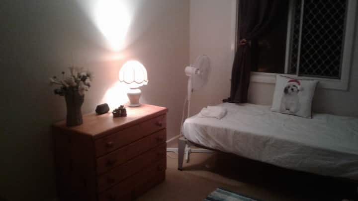 Safe room for rent with country  viewd