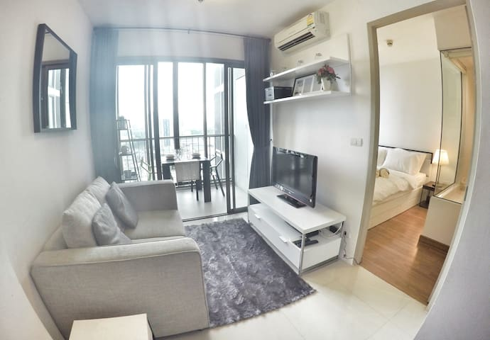 Luxurious 1BR-Close to BTS Skytrain-Rooftop pool - Bangkok - Apto. en complejo residencial
