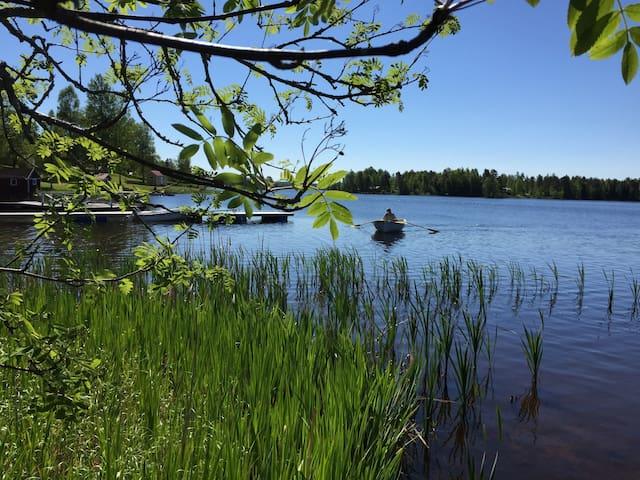 Stuga vid sjö - Ludvika Ö - House
