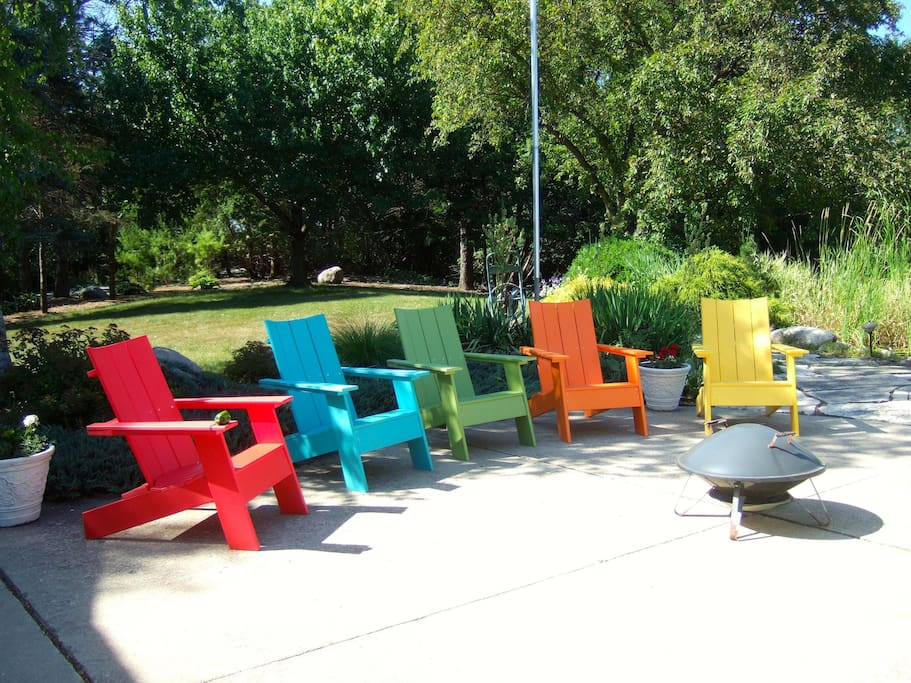 Pleasant outdoor seating areas