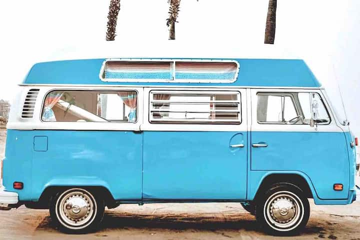 Experience Van Life by the beach in a 1973 VW Bus!
