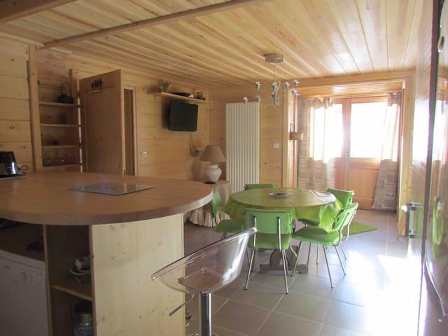 Appartement pour 4 à 6 personnes dans chalet