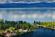 Flathead Lake and town of Bigfork, Montana.  Some of the cleanest water in the U.S.