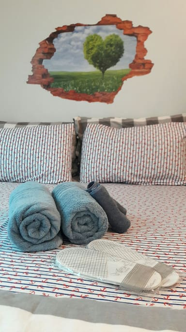 非常乾淨的浴巾 Clean and comfy towels.