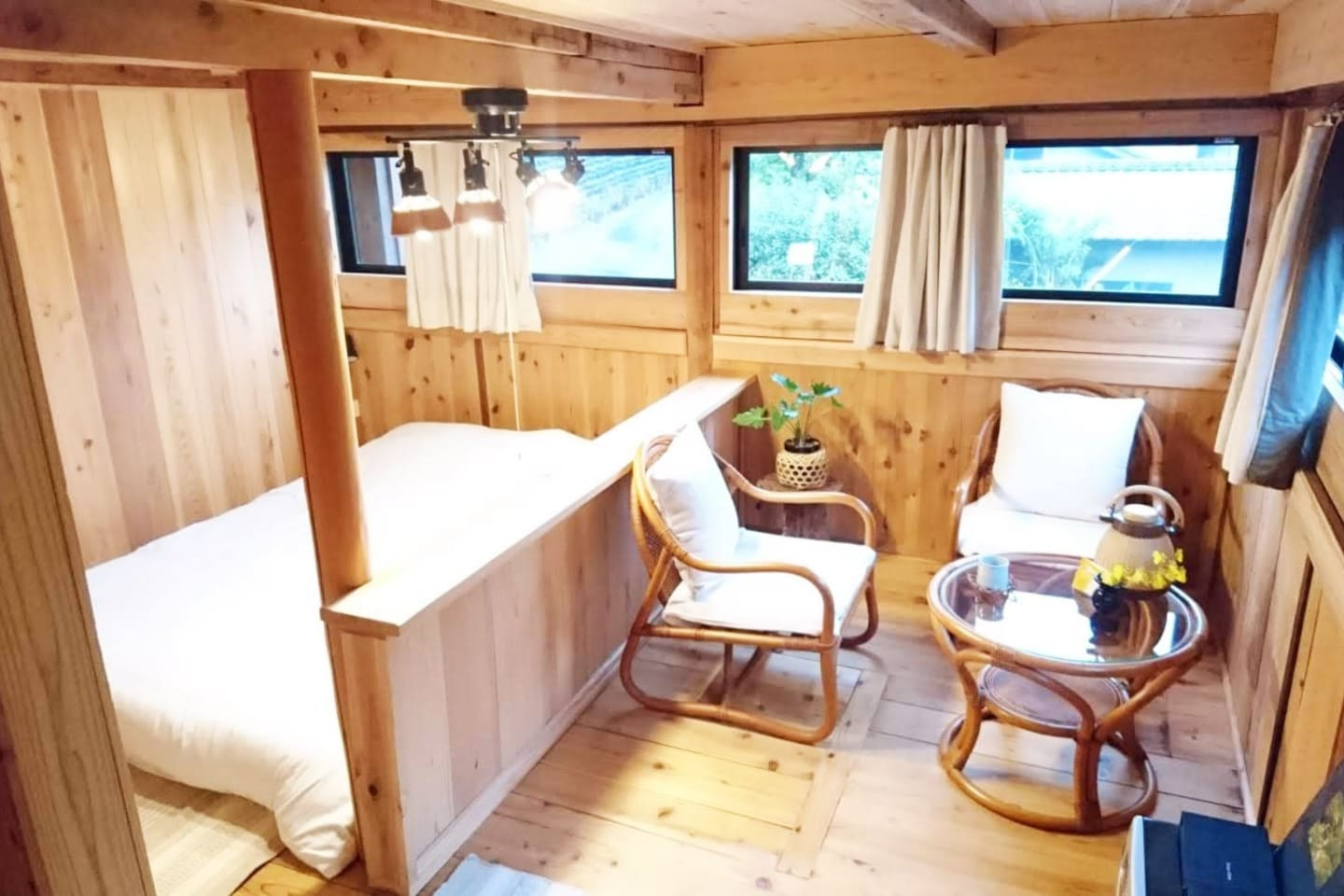 Welcome to Yui Valley guest unit. this is the bed room with small living room
