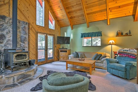 Cabin w/ Wraparound Deck in Big Trees Village!