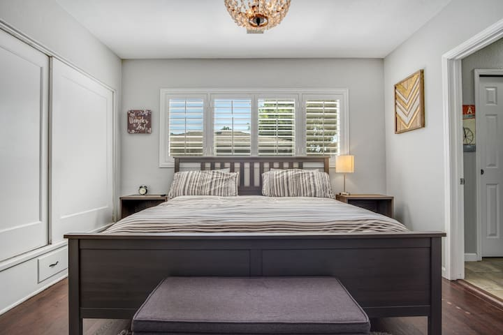 You'll love the master! Looks just like a magazine cover. Enjoy a plush king bed with attached bathroom