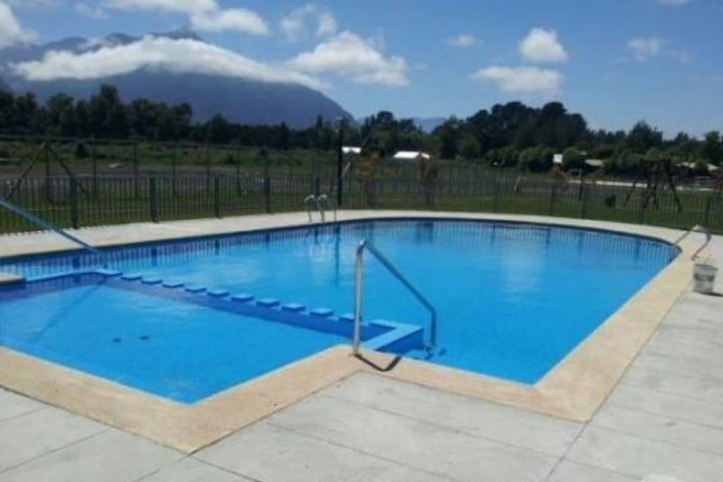 Área común piscina