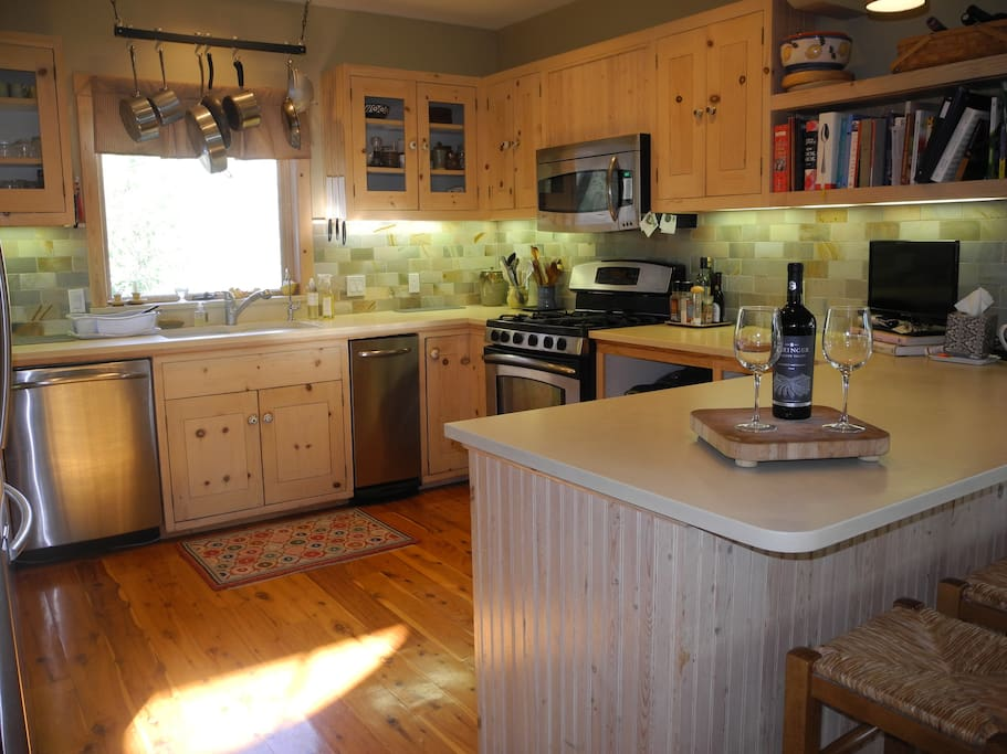 Your own sun-filled kitchen with Cesaerstone counters, stainless appliances and a great place to hang out.